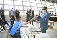 "Presidente Román Andrés Jáquez Liranzo, participa en simulacro ""Atrévete a ponerte en mi lugar""."