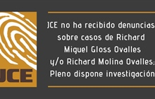 JCE no ha recibido denuncias sobre casos de Richard Miguel Gloss...