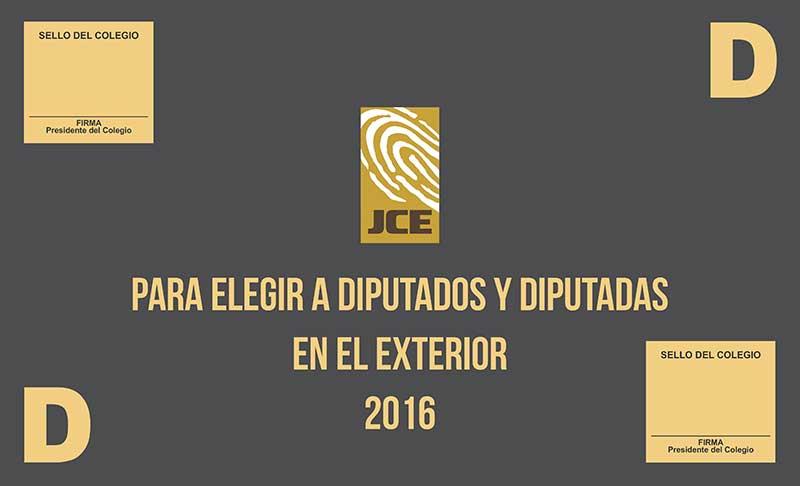 Presidente Jce Rosario M Rquez Present Formato Aprobado Para Boletas Electorales