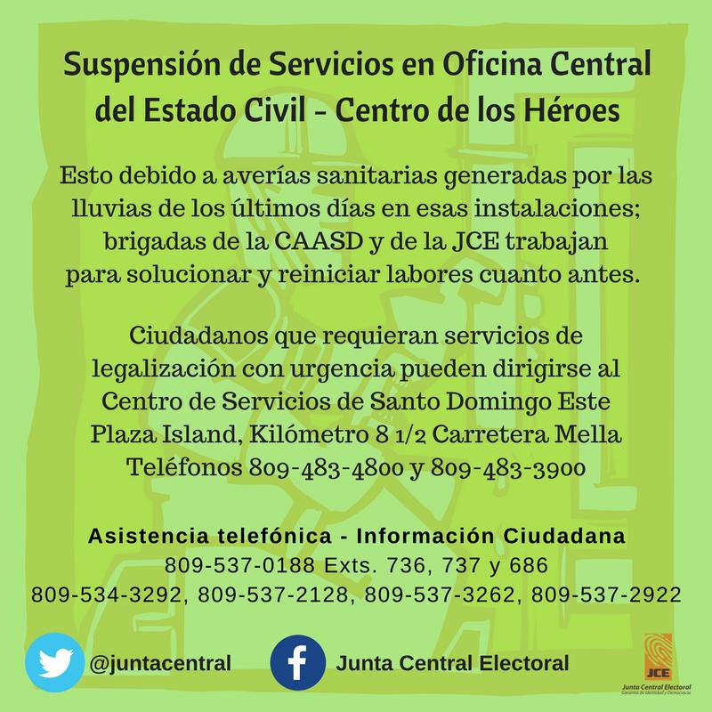 Reanudaci n de servicios en oficina central del centro de for Servicios de oficina